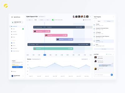 Management tracker app design visual dynamic performance analytics teamwork animated visualization activity tracker management branding activity tracker achievements clean ux ui design app animation graphic design