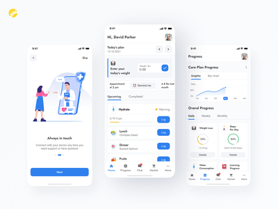 Weight tracker app design concept ios app android app user-friendly nutrition planner monitoring design concept advice professional health physical tracker weight achievements activity tracker clean ux ui design app