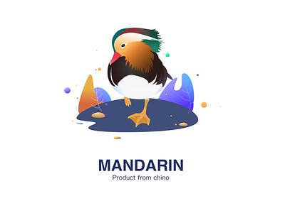 Mandarin colors graphic animal poster illustration color