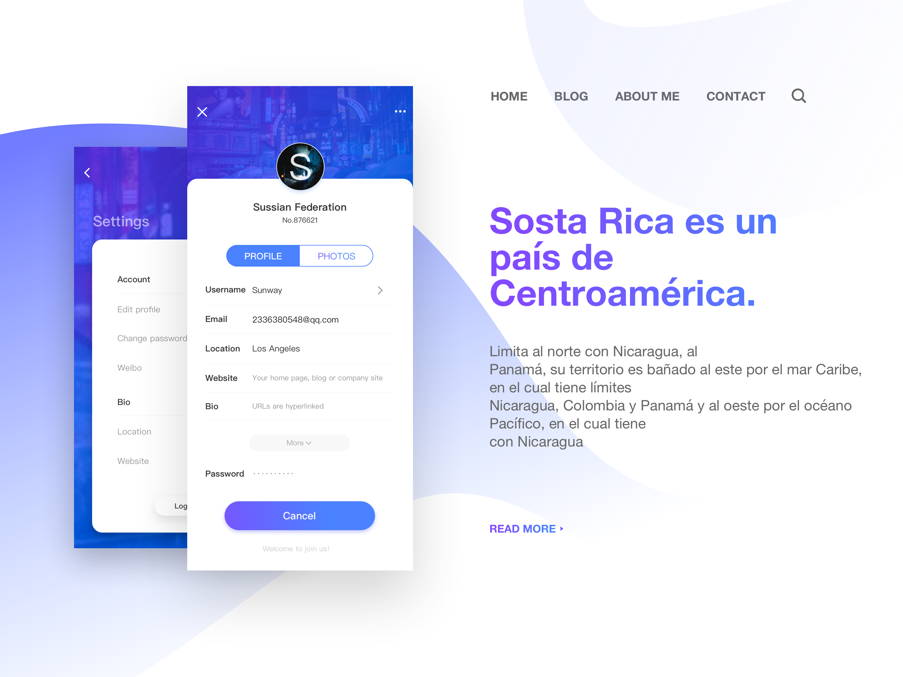 EDIT PROFILE by Chino on Dribbble
