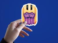 Thanos Flat Sticker minimal design logo vector art avengers infinity war avengers endgame illustrator vector flat design avengers thanos