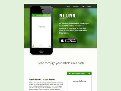 Blurr App Website blurr app website ios apple iphone speedread read articles site app website speed read