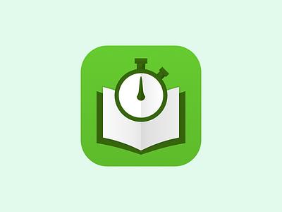 Final Blurr Icon ios 7 speed read speed reader book stopwatch app icon apple iphone ios blurr