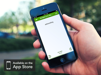 Announcing Syllable syllable blurr iphone ios app apple reading minimalistic launch speed read