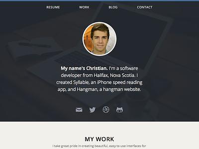 Personal Website Redesign personal website portfolio my work blog contact resume ios iphone developer redesign
