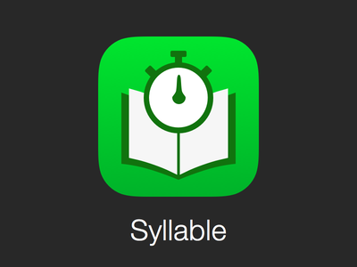 Syllable 2.0 for iOS 7 syllable ios7 apple iphone icon app reading stopwatch book speed reader
