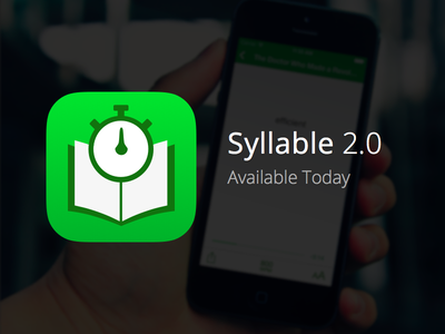 Syllable 2.0 Now Available syllable speed read speed reading app iphone book stopwatch available teaser ios apple