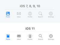 iOS 11 Tab Bar Icon Tweaks