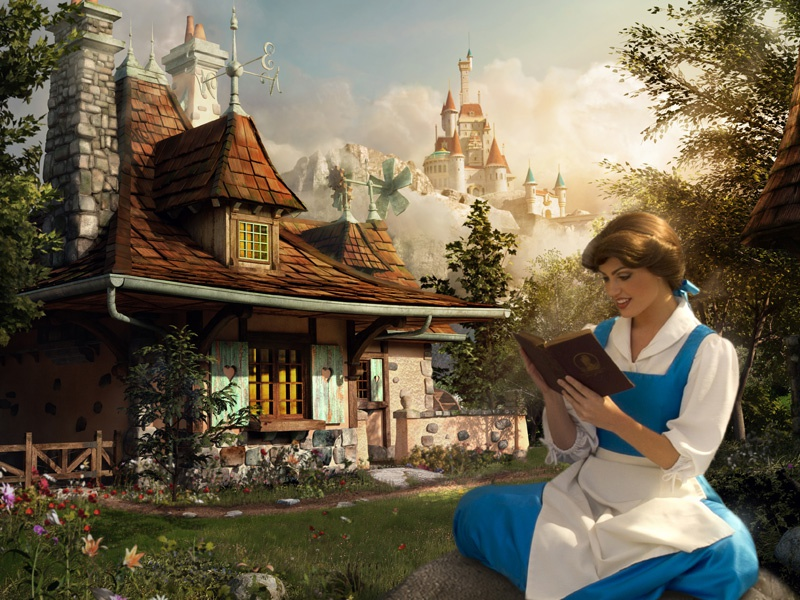 Real beauty is found within disney cg digital art photography image manipulation