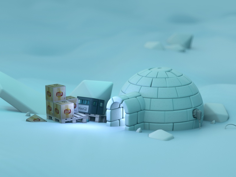 Bingewatching eskimo 3d graphics illustration 3d illustration winter eskimo bingewatching digital art octanerender octane lightwave3d 3dmodelling 3dmodeling 3d artist 3d