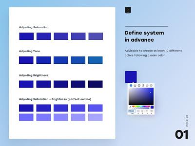 Define system in advance website design web app branding ui  ux design