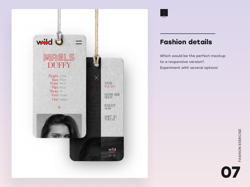 Fashion details choose responsive layout responsive branding design app
