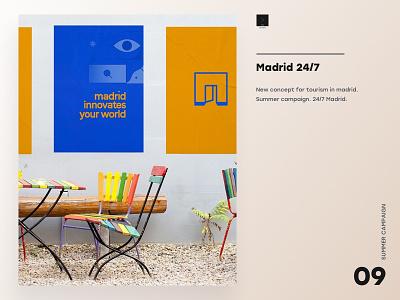 Madrid 24/7 design a day fresh colors website design branding open 247 madrid