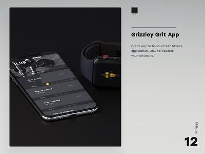 Grizzley Grit App healthy lifestyle ui desgin ux design fitness app digital ui branding app forms design
