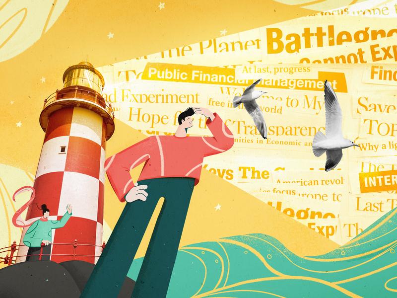 Lighthouse seo marketing art photoshop lighthouse illustration drawing design 2d art