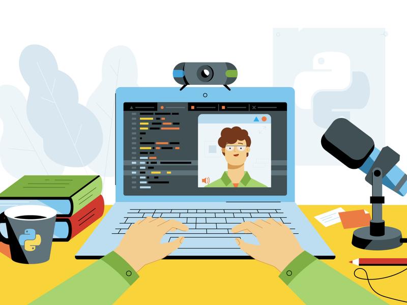 one frame for video explainer video explainer character motion design branding article design flat vector drawing design illustration 2d art