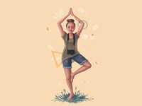Portrait for yoga girl