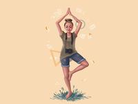 Portrait for yoga girl