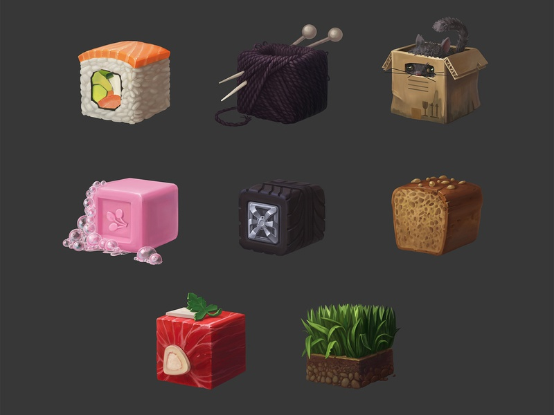 texture cubes texture pack conceptart design drawing cgart illustration 2d art