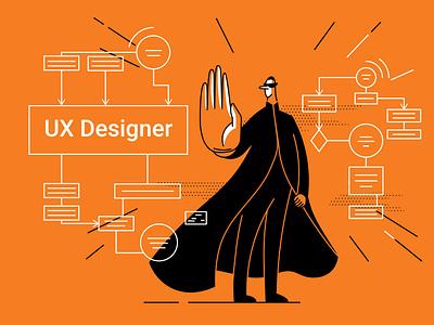 UX Designer branding neo matrix uxdesigner ux article design flat vector drawing design illustration 2d art