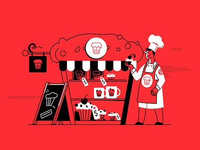 Brand image definition bakery ui branding book art article design flat vector drawing design illustration 2d art brand brand image