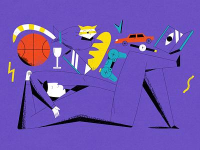 About buyer personas buyer branding ui article design book art flat vector drawing design illustration 2d art