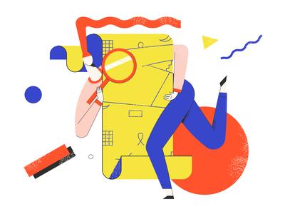 List is empty application book art branding ui article design flat vector drawing design illustration 2d art