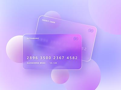 Glassmorphic credit card card credit finance payment bank design illustration glassmorphic glassmorphism credit card