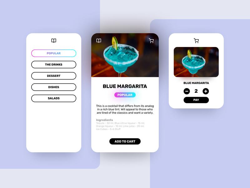 CONCEPTMENU app  design ux ui design concept menu application app figmadesign figma