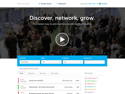 Business events website