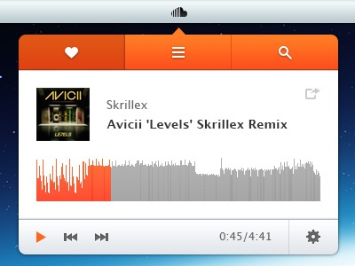 SoundCloud Player for Mac by Ales Nesetril on Dribbble