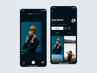 Browse - Photos Interaction dark app dark ui ales nesetril photography clean dark browse ios discover browse simple sketch photo gallery background sketch file free download principle animation principle animation scroll