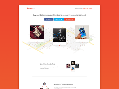 Project.co Homepage preview
