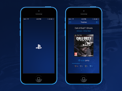 New PlayStation® App Trophies Screen