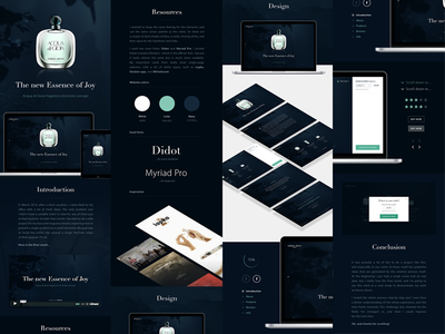 Acqua di Gioia on Medium & Behance video case study behance work medium post behind the scenes dark