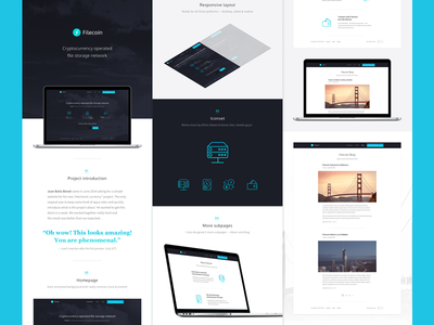 Filecoin on Behance dark case study nesetril animations behance stroke icons electronic currency filecoin
