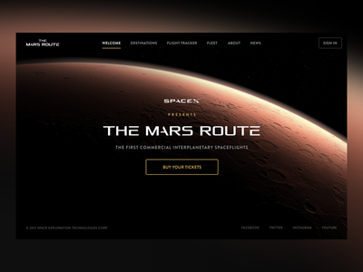 The Mars Route by SpaceX