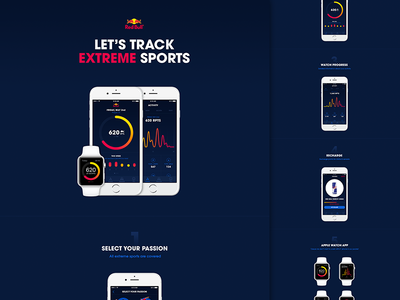 Red Points App on Behance unofficial nesetril behance activity ios app ios concept graph ui daily goal animations red bull action sports extreme sports