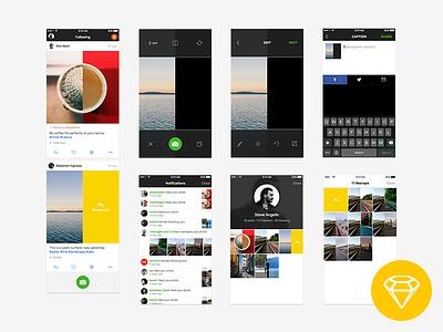 Resnap iOS App UI (Freebie) app design free sketch file freebie resnap free ui free sketch free sketch ui free ios ui download ui photo app