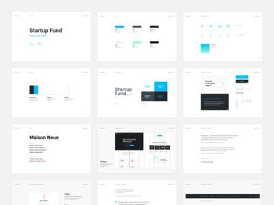 Startup Fund - Style Guide slides startup strvcom strv ales nesetril white design gradient style brand design style overview design style style guide styleguide