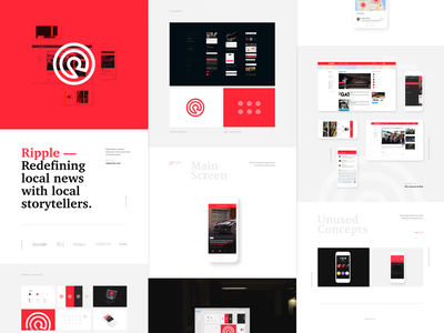 Ripple News on Behance circles red project red ui ios nes app stories case study behance ripple news