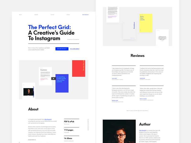The Perfect Grid Website By Ales Nesetril On Dribbble