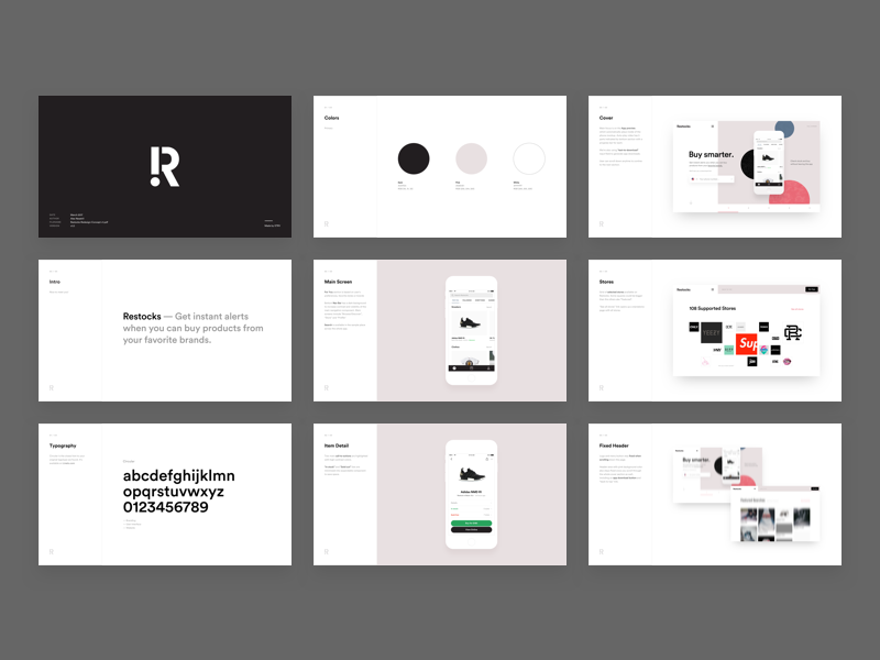 restocks design proposal slides by ales nesetril dribbble dribbble
