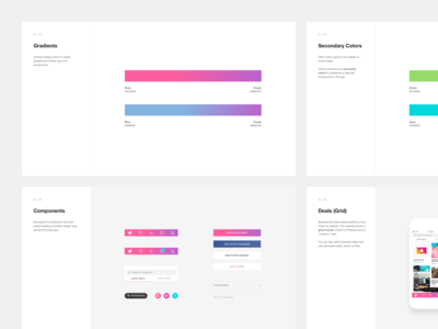 Design Style Exploration [iOS App] pink purple strvcom strv slides design proposal ios components gradient nav bar ui design ios design style gradients