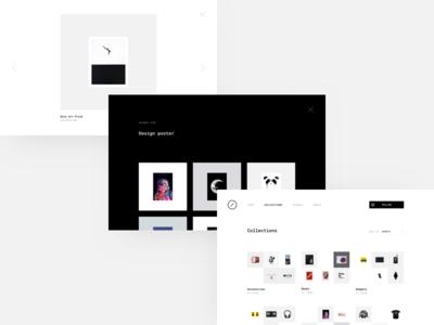 Nesh Supply - Subpages collection monotype minimal layout minimal blog grid design inspiration design blog design goodies