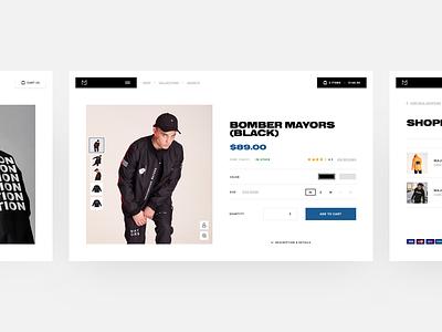 Majors Online Store Concept poland majors ales nesetril web design ecommerce store store concept ecommerce concept layout concept online store