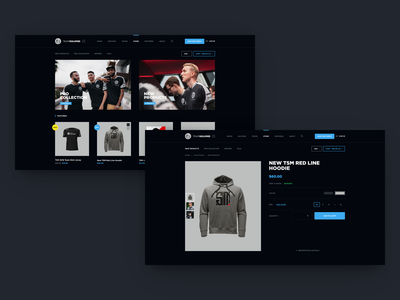 TSM Website Concept - Store merch dark webdesign dark ui gamer jersey esports website gaming website team solomid league of legends esports ales nesetril gaming web design tsm product detail store