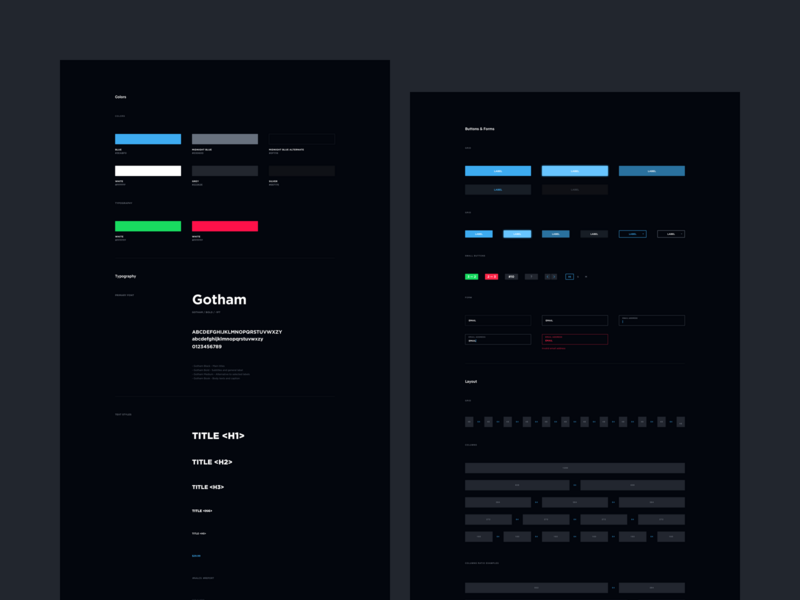 TSM Website Concept - Style Guide