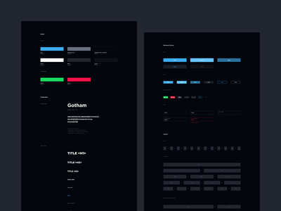 TSM Website Concept - Style Guide strv ales nesetril documentation colors gotham gamers gaming esports team solomid tsm web design guide visual style design style style dark ui guide dark ui design system design guide styleguide style guide