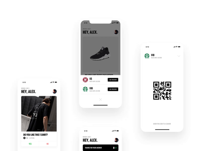User Testing 02 [Concept] strv ales nesetril minimal sneakers vouchers notification promo codes iphone xs user testing qr code minimize scale scroll swipe cards coffee
